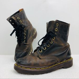 90s Vtg Dr Martens Leather Boots Made in England
